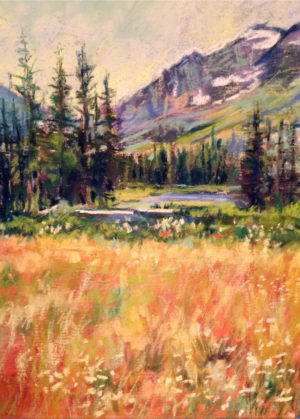 Montana Meadow by NIA pastel artist Mary Meehan Firtl