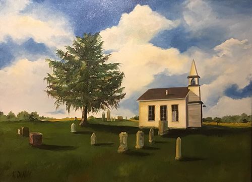 Jacoby Church Plymouth_Oil on canvas_DeNolf