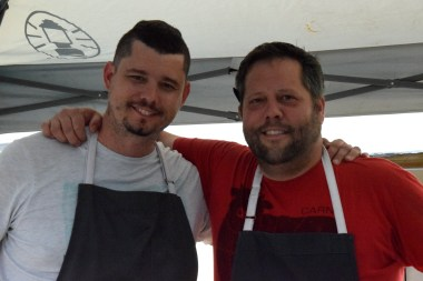Chef Adam Hynam-Smith and Chef Nathan Young at NOTL Supper Market