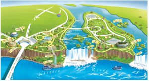 Eight million tourists a year park, eat, sightsee and shop in Niagara Falls State Park without entering the city. Now Gov. Cuomo wants them to sleep there, too.