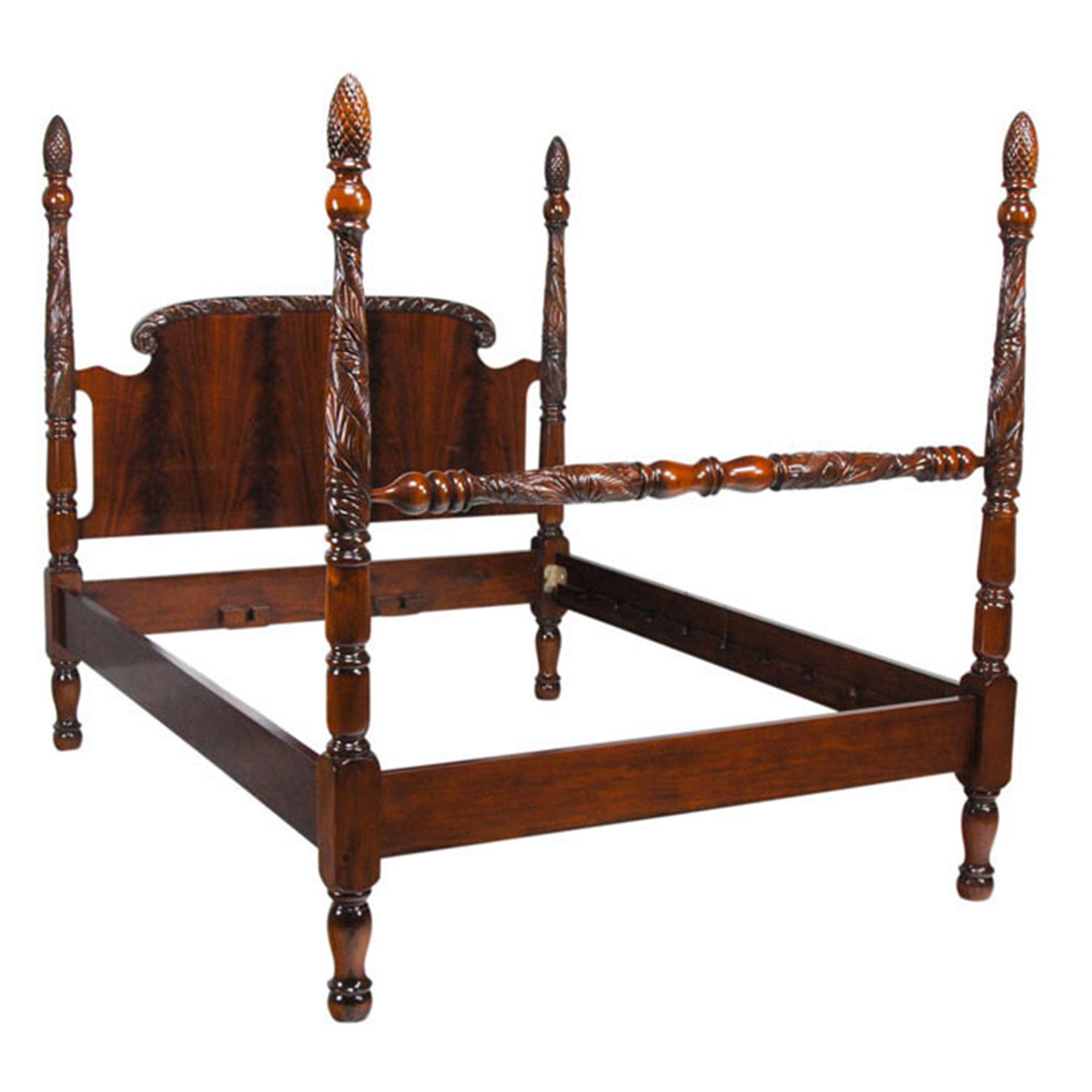 king size mahogany poster bed nbr001k