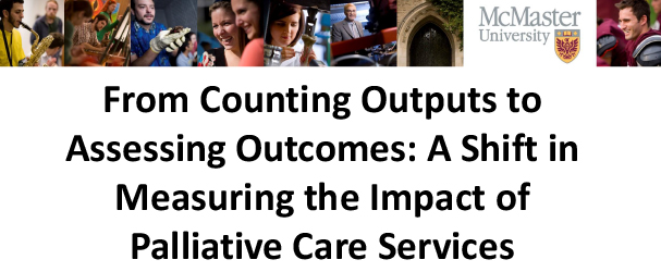 From Counting Outputs to Assessing Outcomes