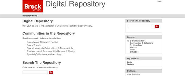 Brock Digital Repository