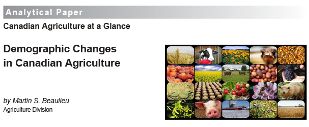 Demographic Changes in Canadian Agriculture