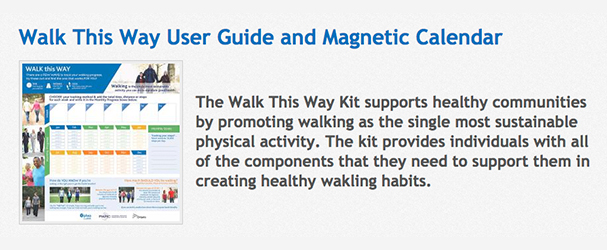 walk this way user guide and magnetic calendar