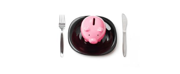 piggybank on plate