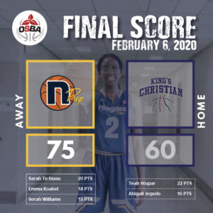 FinalScore - Kings Christian - Feb6
