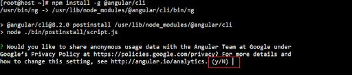 pertanyaan bersedia berbagi data saat memasang angularjs melalui CLI