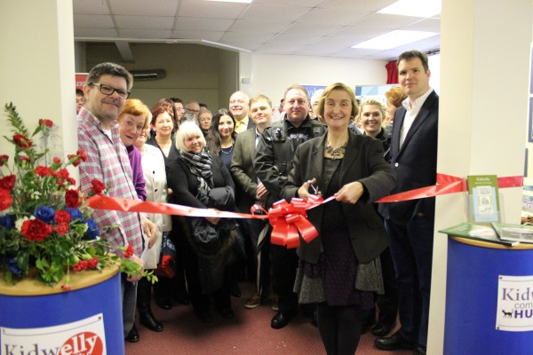Nia Griffith MP Shadow Secretary State Wales opens Kidwelly Comm Hub