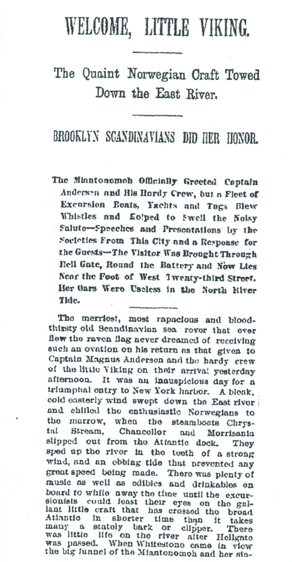 1893 Viking Ship Visit