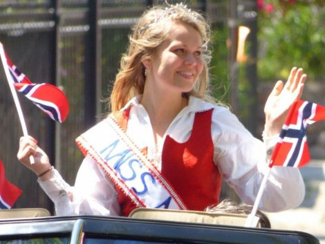 On her way to Norway today – Miss Norway of Greater New York Kirsten Johnson!