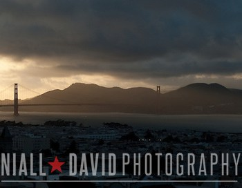 San Francisco Bay Golden Gate Bridge View Nob Hill Sunset Fog Clouds Niall-David-Photography-0848