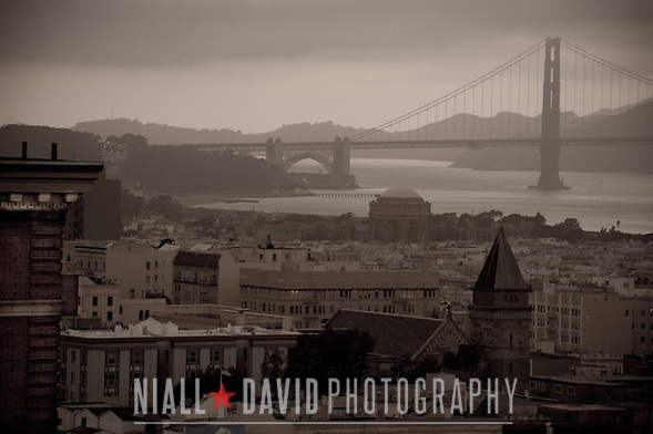 San Francisco Golden Gate Bridge Sunset Nob Hill City Urban View Niall-David-Photography-2363