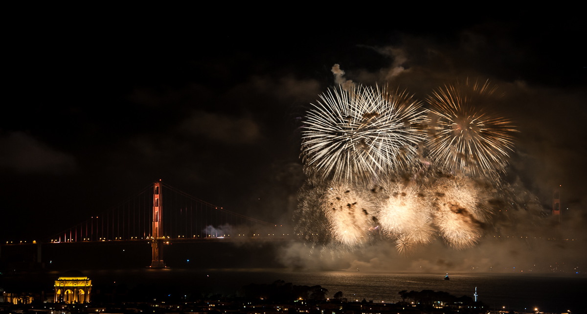 Golden Gate Bridge 75th Anniversary Fireworks San Francisco Bay Area - Niall David Photography-4553