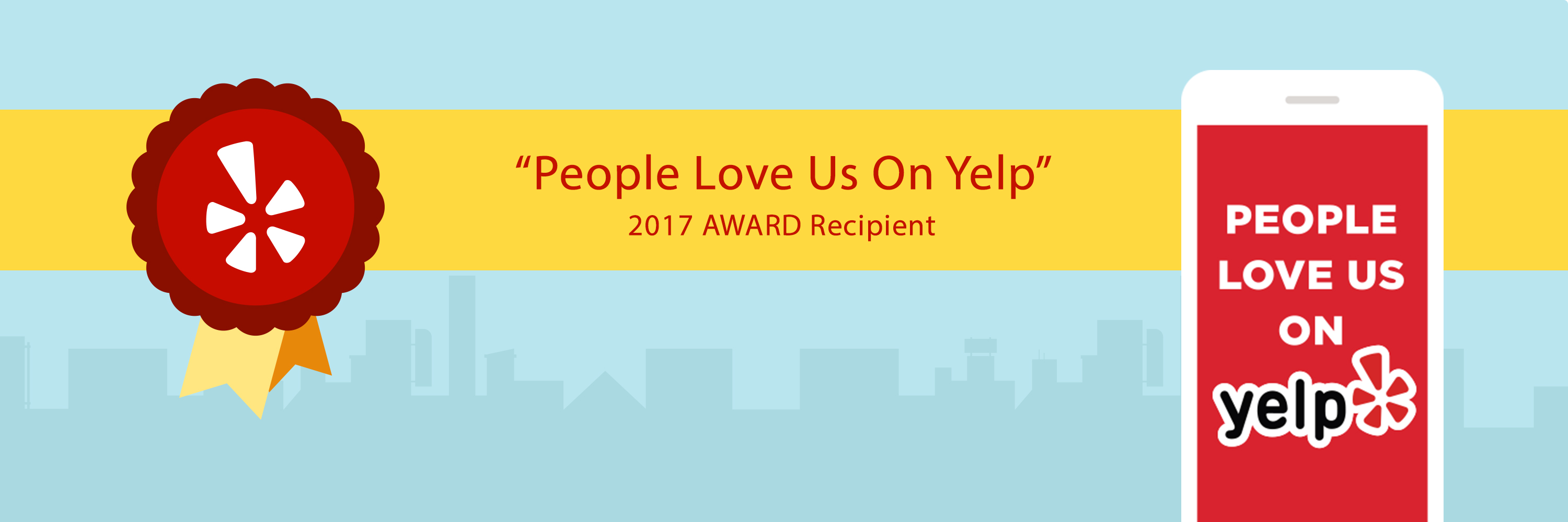 People Love Us On Yelp 2017 Header Image