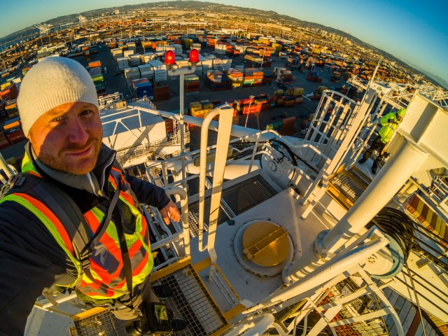 Commercial Photography San Francisco Bay Area Business Marketing Branding Industrial Shipping Crane Selfie - Niall David Photography-7453