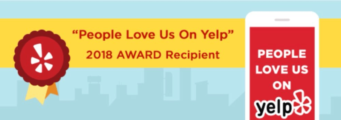 People Love Us On Yelp - Niall David Photography 2018 Award Badge