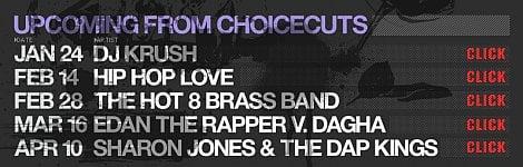 , Upcoming gigs: Edan/Dagha, Percee P, Guilty Simpson, Cool Kids, Aesop Rock