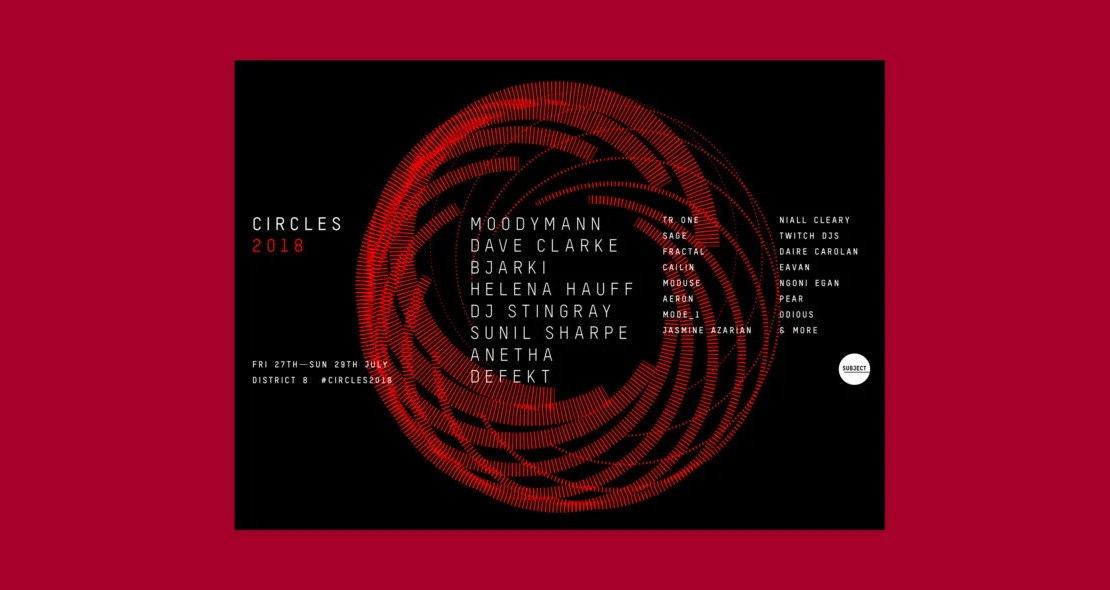 , Moodymann, Sunil Sharpe, Defekt, Dave Clarke and many more for Circles 2018 at District 8