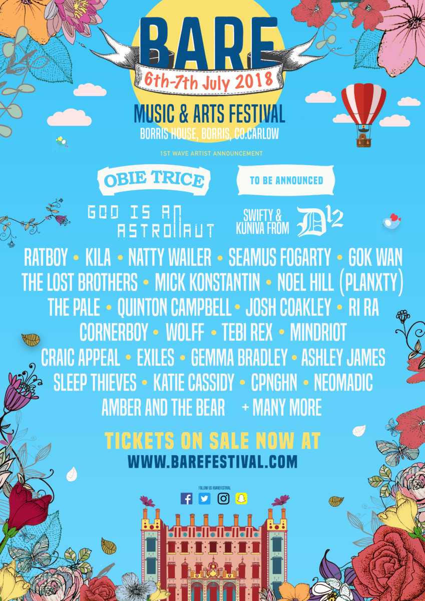 , Bare In The Woods festival announce first round of acts including D12, Gok Wan, Natty Wailer, The Lost Brothers and more