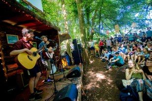 The Ocelots perform on the Arbutus Yarns stage at Body&Soul. Photo: Allen Kiely Photography