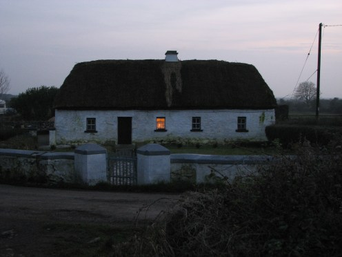 """""""At peace with winter"""" - Dusk at thatched cottege, Clonboo, County Galway, Ireland"""