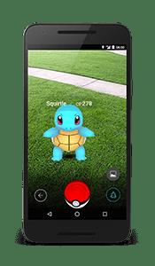 Pokémon GO AR Encounter Screenshot