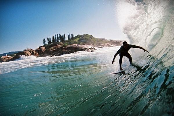 Surfing in Floreanopolis Brazil