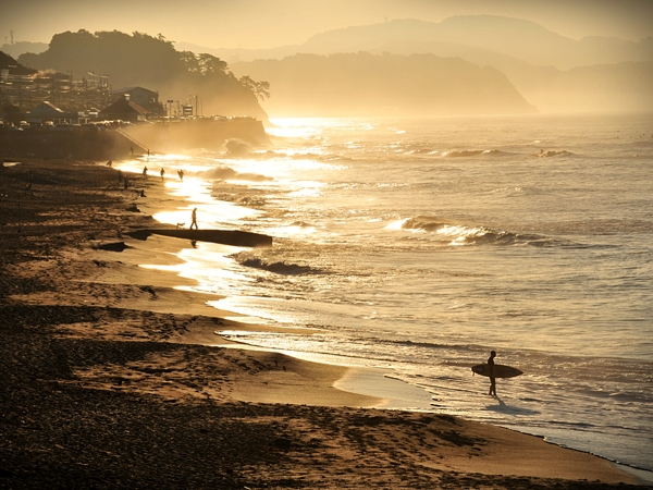 Surfing in Shonan-Japan