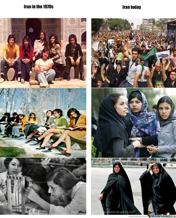 iran toen en nu