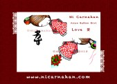 ©NiCarnahan2013. All Rights Reserved. Ni Carnahan's Asian Button Girl 04 Love close up 2013