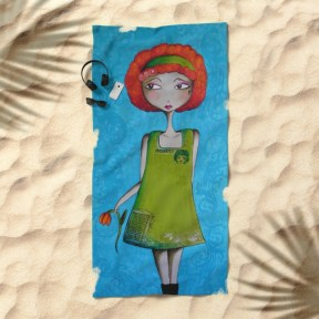 the-enchanted-redhead-and-her-flower-beach-towels