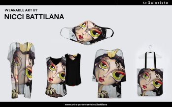 Nicci's Art on high end clothing