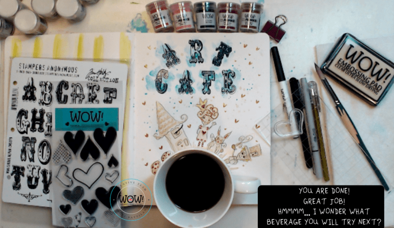 Creating with Coffee ~ Art Tutorial