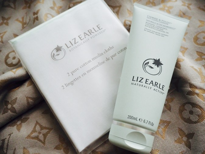 Liz Earle Cleanse and Polish with muslim cloth