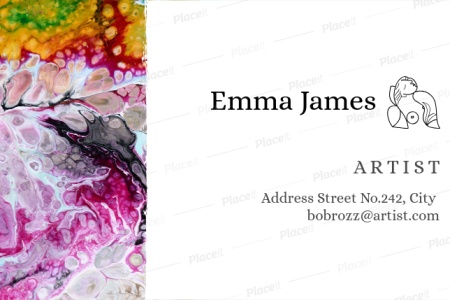 Placeit   Painter Business Card Template Artist Business Card Template a89Foreground Image