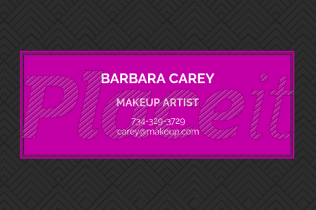 Placeit   Makeup Artist Business Card Template Makeup Artist Business Card Template 112a Foreground Image