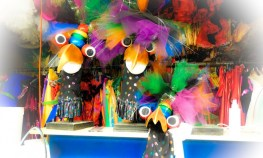 Can you imagine being watched by these critters while pressing open costume seams?