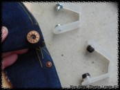 Finished jeans button and jeans rivet!