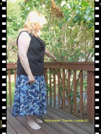 May 26 - my new top and a me made skirt from long ago