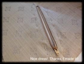 Finished zipper pocket.