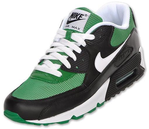 nike air max 90 black white pine green