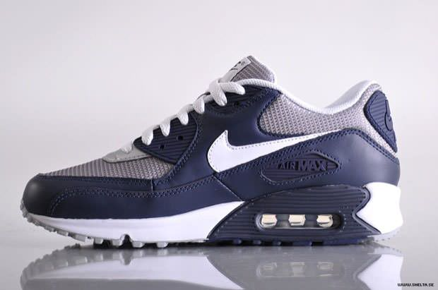 air max 90 navy and white