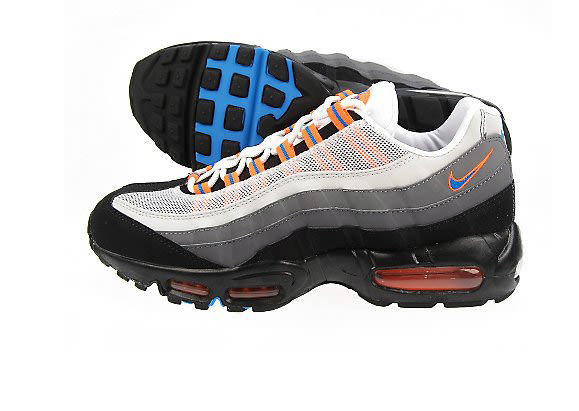 wholesale dealer bd2fc 86a9a Nike Air Max 95 Black Neutral Blue Orange Grey