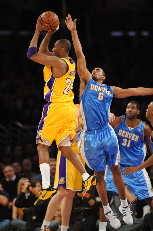 3e05c860632a Kobe Bryant looking for a teammate in the Nike Zoom Kobe V