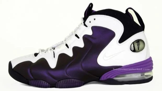the best attitude 058e2 edee1 Nike Air Penny 3 White Eggplant-Black