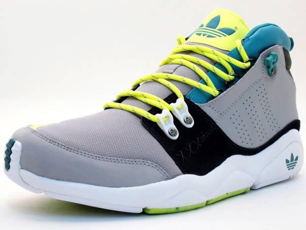 new product 69887 b5291 adidas Originals Fortitude Mid GreyGreen-Yellow