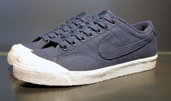 Nike All Court Low Navy Blue Canvas