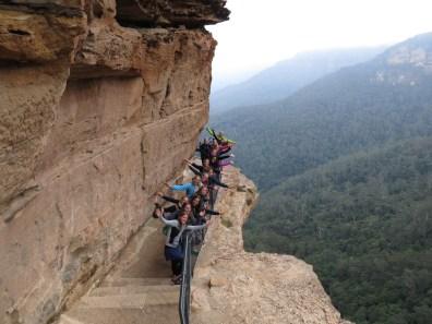 Groeps foto van een klein gedeelte van de groep in de Blue mountains!