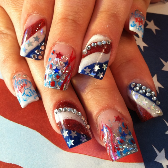 6 Fourth Of July Nail Designs In